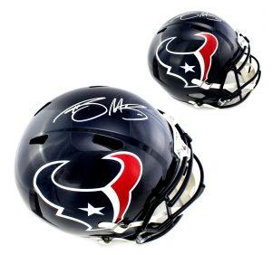 Braxton Miller Signed Houston Texans Full Size Speed Helmet-0