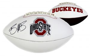 Braxton Miller Signed Ohio State Buckeyes Embroidered NCAA Logo Football-0