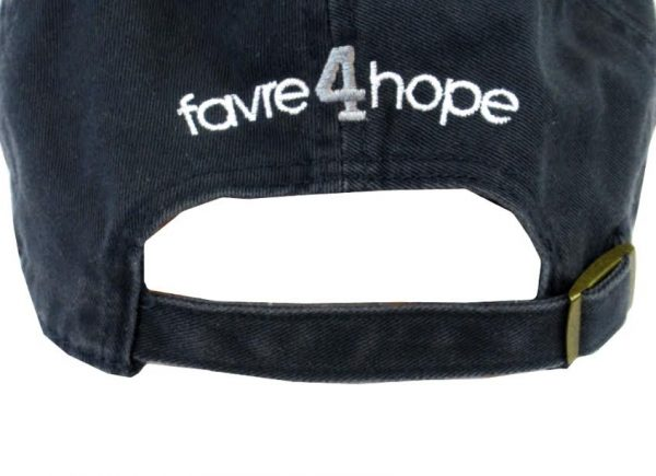 Official Favre 4 Hope Navy Blue Adjustable Hat - One Size Fits All-18787