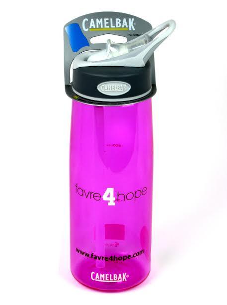 Official Favre 4 Hope Camelback Pink 24oz Water Bottle-0