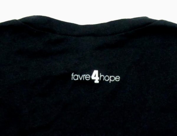 "Official Favre 4 Hope Black Ladies Long Sleeve Shirt with ""Hope""-18779"