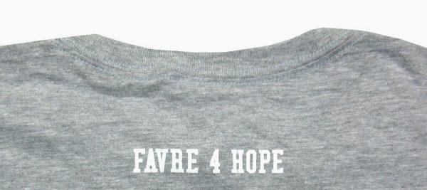 Official Favre4Hope Grey Mens T-shirt - Green #4-18771
