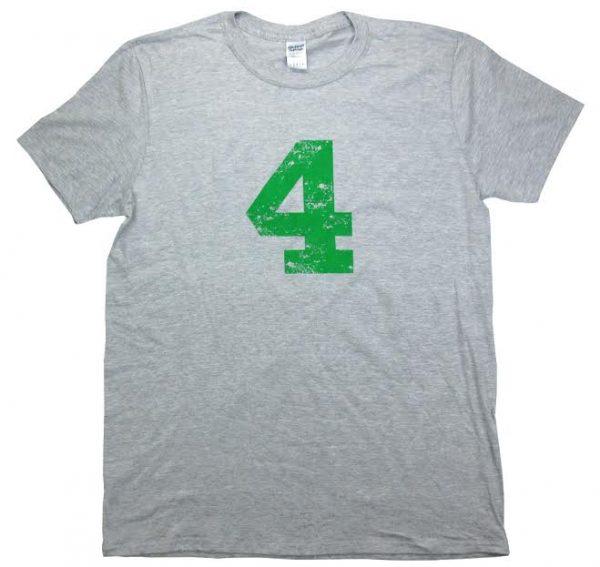 Official Favre4Hope Grey Mens T-shirt - Green #4-0