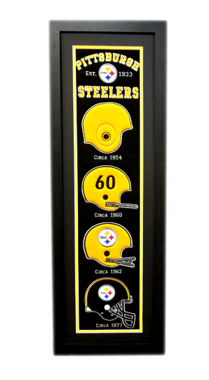 Pittsburgh Steelers 36x12 Heritage Banner Frame with Team Logos-0