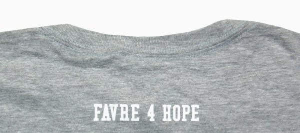 Official Favre 4 Hope Grey Youth T-Shirt - Green #4-18774