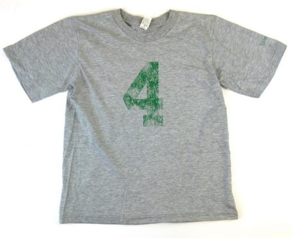 Official Favre 4 Hope Grey Youth T-Shirt - Green #4-0