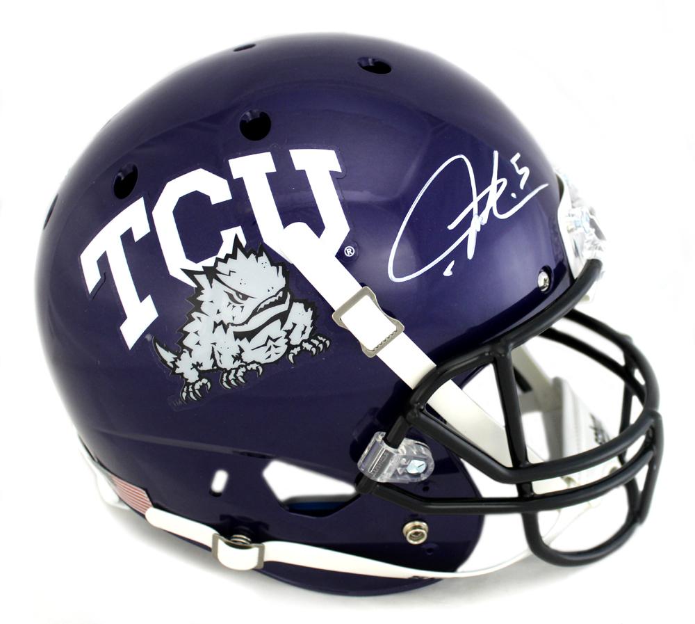 quality design b5c99 1c4d6 LaDainian Tomlinson Signed TCU Horned Frogs Schutt XP Full Size NCAA Helmet
