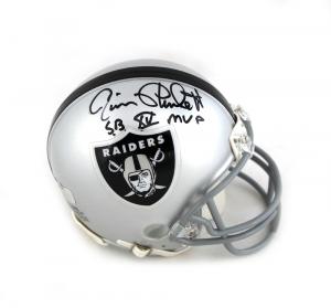 "Jim Plunkett Signed Oakland Raiders NFL Mini Helmet with ""SB XV MVP"" Inscription-0"
