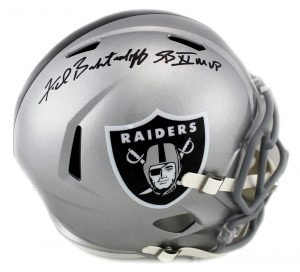 "Fred Biletnikoff Autographed/Signed Oakland Raiders Riddell Full Size NFL Helmet with ""SB XI MVP"" Inscription-0"