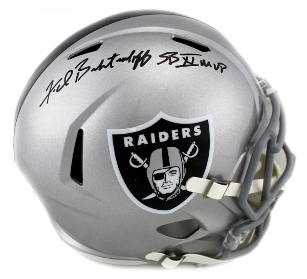 "Fred Biletnikoff Autographed/Signed Oakland Raiders Riddell Full Size NFL Helmet with ""SB XI MVP"" Inscription-0"