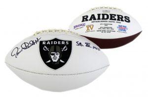"Jim Plunkett Signed Oakland Raiders Embroidered NFL Football With ""SB XV MVP"" Inscription-0"