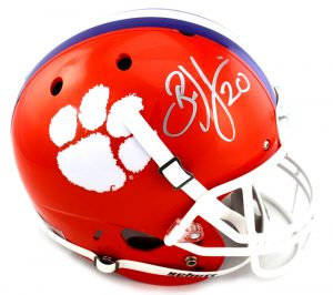Brian Dawkins Signed Clemson Tigers Riddell Full Size NCAA Helmet-0