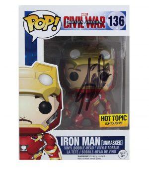 Stan Lee Signed Funko Pop! Marvel Iron Man Civil War #136 Action Figure - Black Ink-0