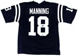 Archie Manning Signed Ole Miss Rebels Throwback Navy Blue Custom Jersey-0