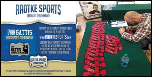 Evan Gattis Autographed/Signed Atlanta Braves White Majestic Jersey with El Oso Blanco Inscription-6061