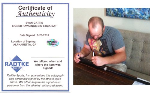 Evan Gattis Signed/Autographed Atlanta Braves Rawlings Big Stick Bat El Oso Blanco-6203