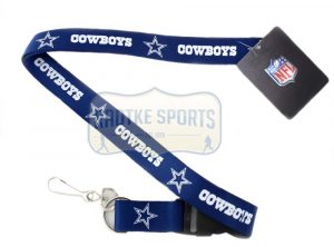 Dallas Cowboys Officially Licensed Nylon Lanyard-Blue-0