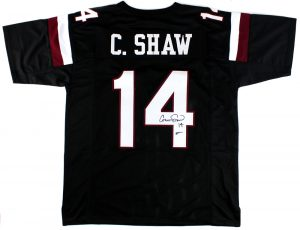 Connor Shaw Signed South Carolina Gamecocks Custom Black Jersey -0