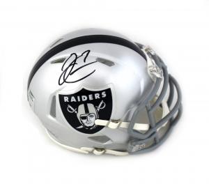 Derek Carr Autographed/Signed Oakland Raiders Mini Helmet-0