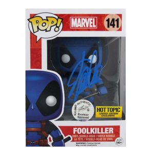 Stan Lee Signed Funko Pop! Marvel Foolkiller #141 Action Figure-0