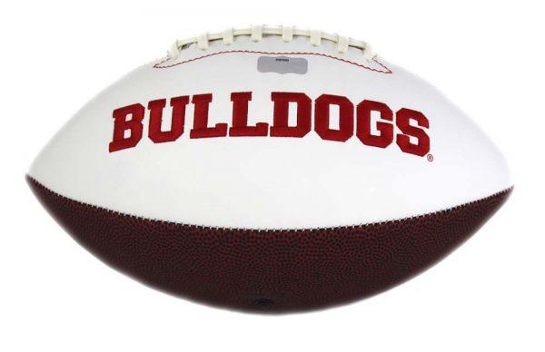 Nick Chubb Signed Georgia Bulldogs Embroidered NCAA Football-28069