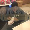 Nick Chubb Signed Georgia Bulldogs Embroidered NCAA Football-28070