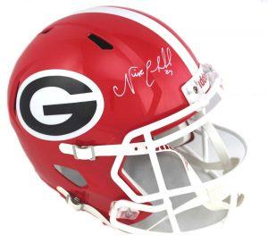 Nick Chubb Signed Georgia Bulldogs NCAA Speed Full Size Helmet -0