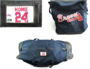 Evan Gattis Signed Game Used Atlanta Braves Home Equipment Bag-0