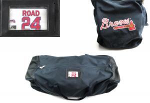 Evan Gattis Game Used Atlanta Braves Road Equipment Bag-0