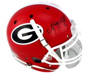 Nick Chubb Signed Georgia Bulldogs NCAA Authentic Schutt Helmet-0