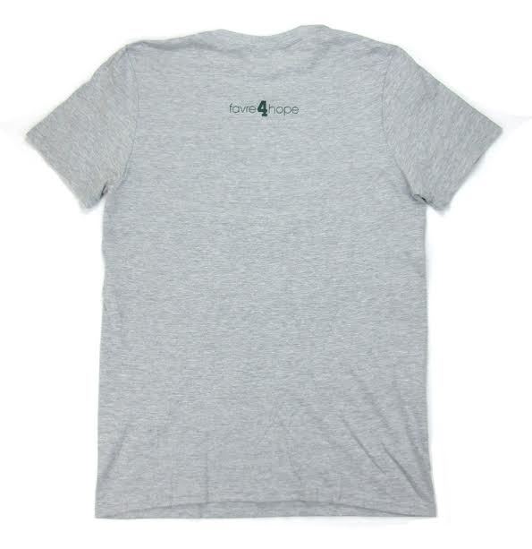 "Official Favre 4 Hope Grey Mens T-Shirt with ""Back in the Pack""-18781"