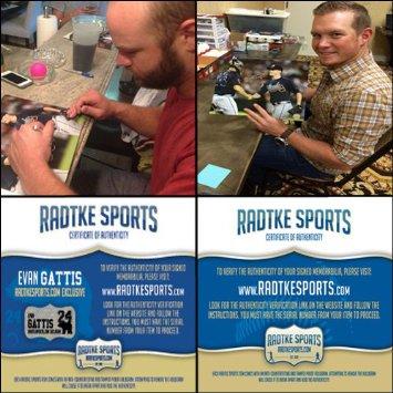 Craig Kimbrel Evan Gattis Duel Autographed/Signed Atlanta Braves 11X14 Record 155 Saves-6070