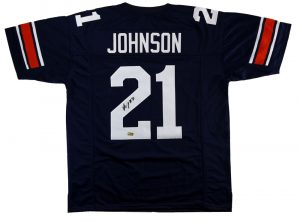 Kerryon Johnson Signed Auburn Tigers Custom Blue Jersey-0