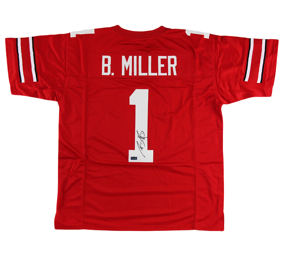 Braxton Miller Signed Ohio State Custom Red Jersey
