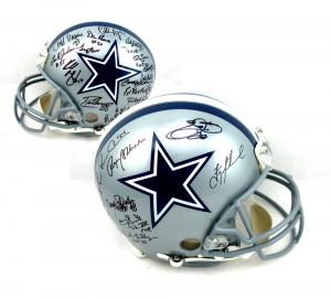 Cowboys Greats Signed Dallas Cowboys Authentic Helmet - 23 Signatures-0