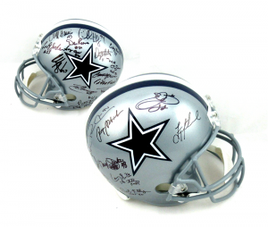 Cowboys Greats Signed Dallas Cowboys Full Size Helmet - 23 Signatures-0