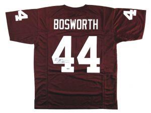 Brian Bosworth Signed Oklahoma Sooners Custom Maroon Jersey-0