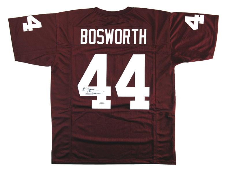 aba40624c54 Brian Bosworth Signed Oklahoma Sooners Custom Maroon Jersey – Radtke ...