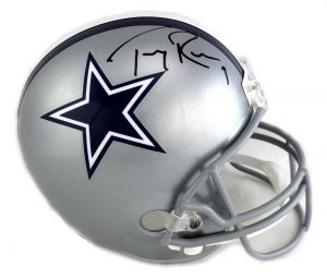 Tony Romo Signed Dallas Cowboys Riddell Full Size NFL Helmet - JSA-0