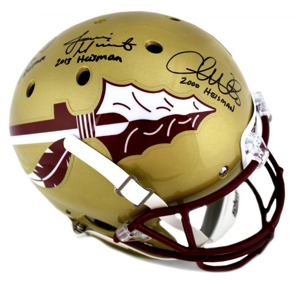 "Charlie Ward, Chris Weinke & Jameis Winston Signed Florida State Seminoles Full Size Helmet ""Heisman Years""-30836"