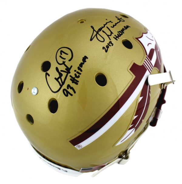 "Charlie Ward, Chris Weinke & Jameis Winston Signed Florida State Seminoles Full Size Helmet ""Heisman Years""-30835"