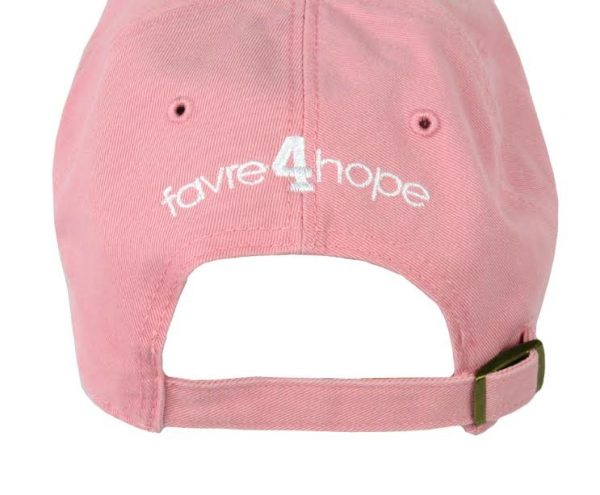 Official Favre 4 Hope Pink Adjustable Hat - One Size Fits All-0