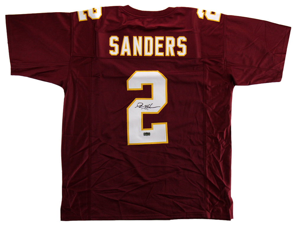 the best attitude 31b6a 8e325 Deion Sanders Signed Florida State Seminoles Maroon Throwback Custom Jersey
