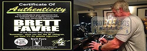 Brett Favre Signed Atlanta Falcons Throwback Full Size Black Helmet-16709