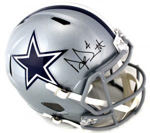 Dak Prescott Signed Dallas Cowboys Riddell Speed Full Size Helmet-0