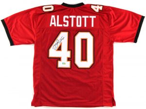 Mike Alstott Signed Tampa Bay Buccaneers NFL Red Custom Jersey-0