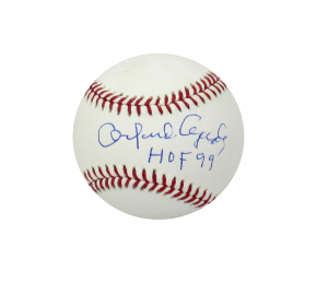 "Orlando Cepeda Signed Official Rawlings Major League Baseball with ""HOF 99"" Inscription-0"