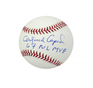 "Orlando Cepeda Signed Official Rawlings Major League Baseball with ""67 NL MVP"" Inscription-0"