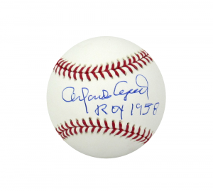 """Orlando Cepeda Signed Official Rawlings Major League Baseball with """"ROY 1958"""" Inscription-0"""