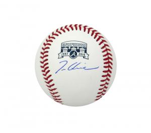 Tom Glavine Signed Atlanta Braves Turner Field Final Season Rawlings Baseball-0